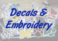 Decals and Embroidery